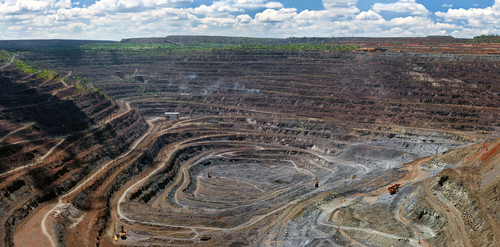 Open pit wide view
