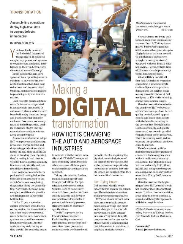 Plant Magazine Article - September 2017